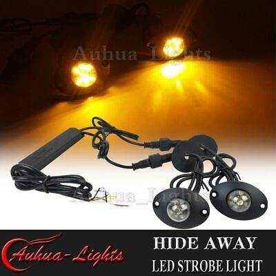 $38.69 • Buy 2in1 12W LED Hide-AWay Emergency Warning Flashing Vehicle Strobe Kit Light Amber