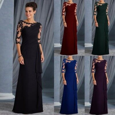 7b4024361e7 Women Lace Long Formal Evening Party Dresses Cocktail Prom Gowns Maxi  Christmas • 20.67