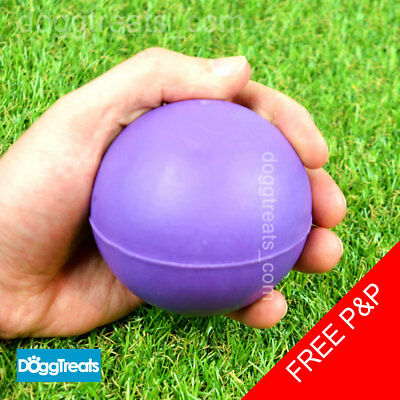 £7.95 • Buy SOLID RUBBER BALL DOG TOY LARGE - Classic Fetch Chase Chew Hard Balls - 7cm