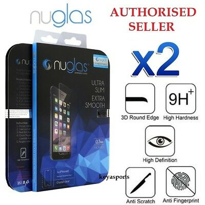 AU7.95 • Buy 2X Genuine NUGLAS Tempered Glass Screen Protector IPhone 11 Pro XS Max 8 7 6Plus