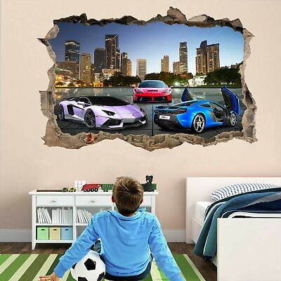 Super Sports Cars Wall Stickers Mural Decal Poster Self-adhesive Print Art DT21 • 22.99£