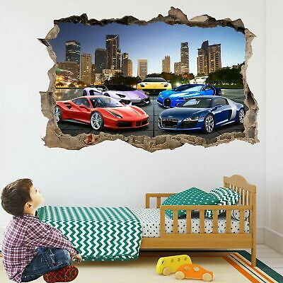Super Sports Cars Wall Stickers Mural Decal Poster Self-adhesive Print Art DT22 • 22.99£