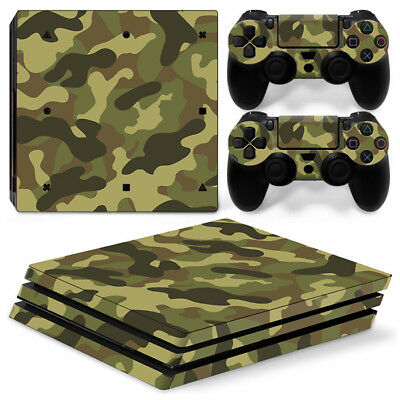 AU10.99 • Buy PS4 Pro Woodland Camo Vinyl Skin Sticker For Console Controller  -Camouflage