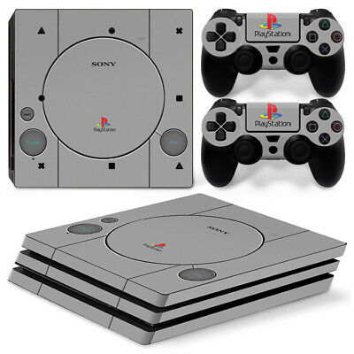AU10.99 • Buy PS1 Retro Playstation PS4 Pro Decal Wrap Skin Sticker Console &2 Controllers SET