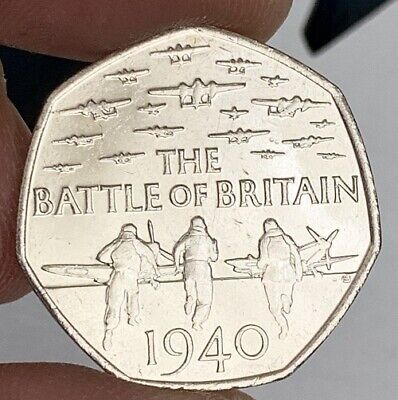 2015 Battle Of Britain 75th Anniversary 50p Fifty Pence Coin  • 4£