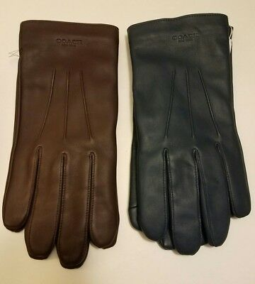 $99.99 • Buy Coach NWT Mens Leather Glove Wool Lining Choose Color MSRP $130 F54182