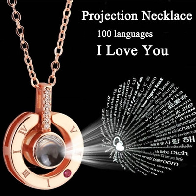 $5.21 • Buy I LOVE YOU In 100 Languages Pendant Necklace Romantic Day Valentine's Day Gifts