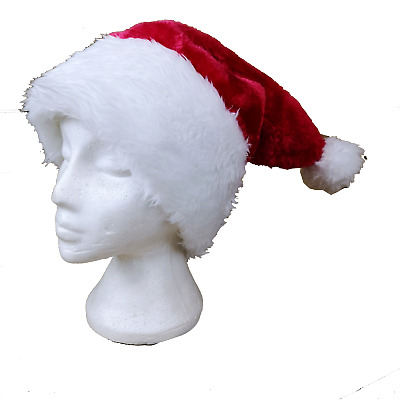 £2.99 • Buy Luxury Plush Santa Hat Deluxe Large Adult Size Serious Santa High Quality Hat