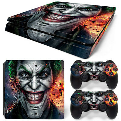 AU9.39 • Buy Joker Full Set Decal Sticker Skin For Playstation PS4 Slim Console Controllers