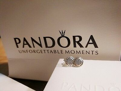AU54.99 • Buy Mother's Day Gift Pandora Sparkling Logo Stud Earrings 【AU Stock】item 290559CZ