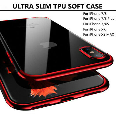 AU5.69 • Buy ULTRA SLIM CASE FOR IPHONE 11 PRO MAX X XS MAX XR 7/8 PLUS SE2 TPU SOFT CASE