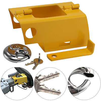 AU23.41 • Buy Heavy Duty Coupling Caravan Trailer Safety Security Hitch Lock With Padlock