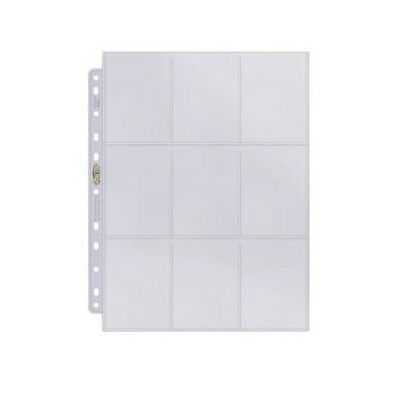 AU8.75 • Buy 10 X Ultra PRO 9-Pocket 11-Hole Binder Album Folder Pages Card Standard Platinum