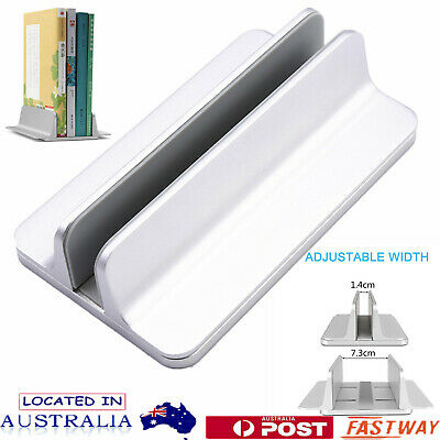 AU29.69 • Buy Aluminum Vertical Laptop Stand Adjustable Holder For MacBook Notebook Desktop AU