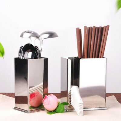 AU16.91 • Buy Lovoski Large Kitchen Utensil Caddy Stainless Steel Cooking Tools Holder