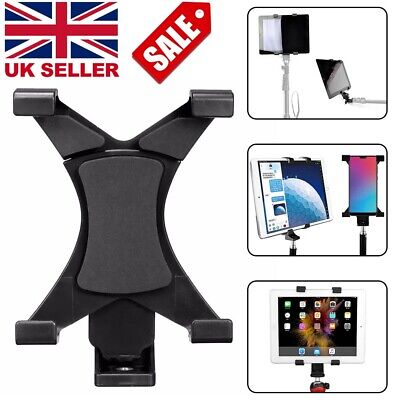 £5.49 • Buy Universal Mobile Phone Tripod Stand Grip Holder 1/4''Mount For  7''~10.1'' IPad