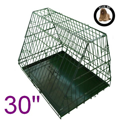 £53.09 • Buy Ellie-Bo Sloping Puppy Cage Folding Dog Crate With Non-Chew Metal Tray With For