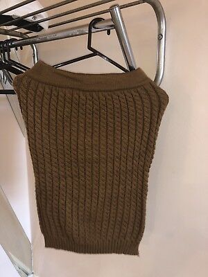 £13.46 • Buy Pencil Skirt Cable Knit 100%  Stretch Light Brown Small