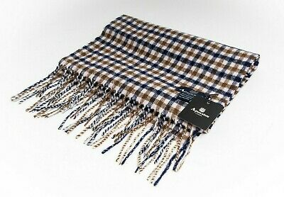 Aquascutum Scarf 100% Lambswool Classic House Check Brand New With Tags • 29.99£