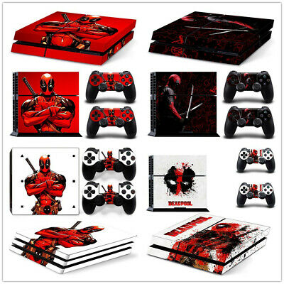 AU9.39 • Buy Deadpool Skin Sticker For Sony PS4 /PS4 SLIM/ PS4 PRO Console & Controllers SET