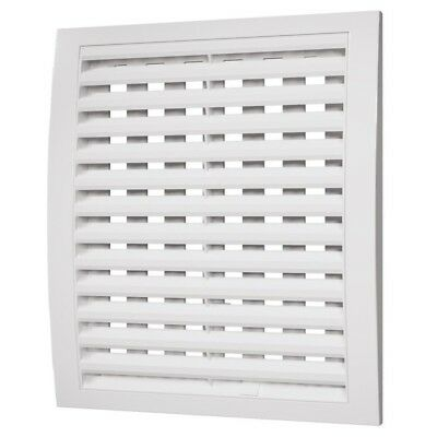 White Air Vent Grille With Shutter / Close And Open / Ducting Ventilation Cover • 7.69£
