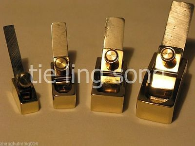 4pcs Different Size Brass Flat Bottom Plane ,violin,cello Making Tool • 36£