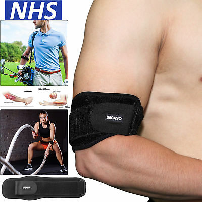 Adjustable Elbow Support Brace Strap Tennis Golfers Band Gym Sport Epicondylitis • 3.99£