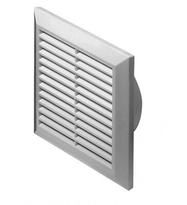 Air Vent Grille With Duct Flange And Fly Screen Ducting Ventilation Cover • 7.99£