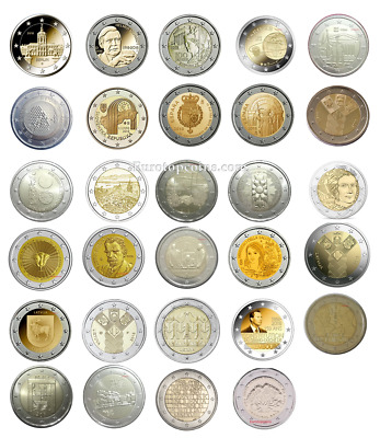 $ CDN263.51 • Buy #rm# All 2 Euro Commemorative From 2018 Unc - 29 Coins