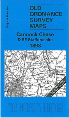 Cannock Chase And SE Staffordshire 1898: One Inch Map 154 Old Ordnance Survey Of • 6.83£