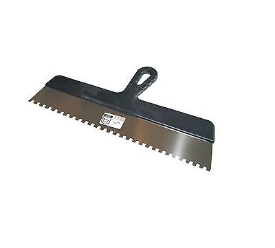 Wide Glue Adhesive Spreader 450mm (18 ) Stainless, Square Notch, Notched Spatula • 7.50£