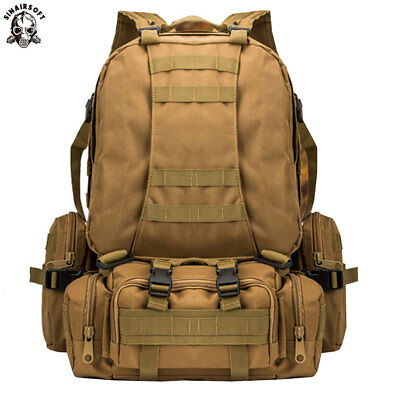 AU55.09 • Buy Outdoor 50L Molle Hiking Camping Bag Tactical Military Rucksack Backpack Assault