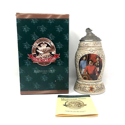 $ CDN30.39 • Buy Anheuser Busch Collectors Club Membership Stein In Box 1998 Old World Heritage
