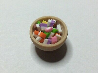 Doll's House Food Sweet Bowl. Dolly Mixtures. Handmade. 12th Scale. New. • 2.50£