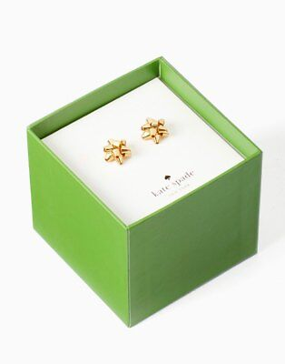 $ CDN53.04 • Buy KATE SPADE BOURGEOIS BOW YELLOW GOLD STUDS WITH GIFT BOX Present Gift Earrings