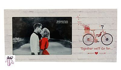 AU11.96 • Buy Valentines Day Engagement Love 4x6in Horizontal Picture Photo Frame Gift Present