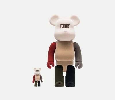 $349.99 • Buy KITH X BEARBRICK 400% & 100% PACK - MULTI Color (Flocked) Limited Edition Rare