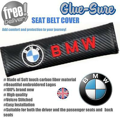 BMW Car Seat Belt Safety Shoulder Strap Cover Cushion Pad Carbon Fiber  • 3.99£