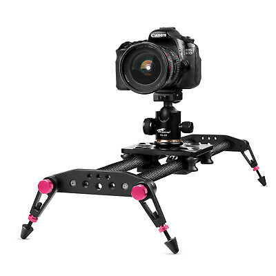$89.99 • Buy 32 Inches Camera Slider For DSLR Carbon Fiber Dolly Track With 33lbs Loading