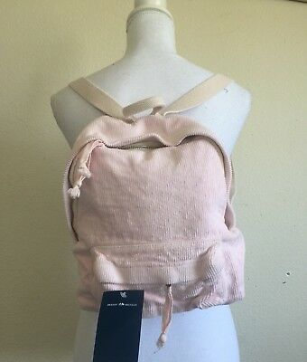 49c29a5669 Brandy Melville John Galt Pastel Pink Corduroy Mini Purse Backpack NWT •  55.00