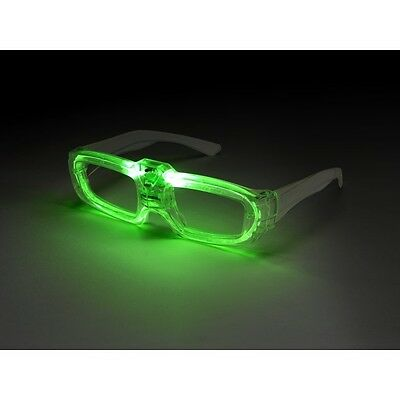 Men's Sound Activated Light Up Flashing Fancy Dress Glasses Stag Theme Fun 80's  • 5.34£