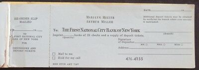 Marilyn Monroe Marilyn & Arthur Miller Personally Owned Check Book + More • 500$