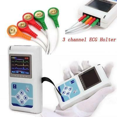 £230 • Buy 24 Hours 3 Channel ECG/EKG Holter Monitor System CONTEC TLC9803 USB Software,CE
