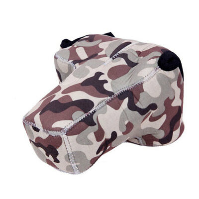 $ CDN13.40 • Buy Camouflage Neoprene DSLR Camera Cover Case Canon T6S 80D Sony A5100 A6000 A6300