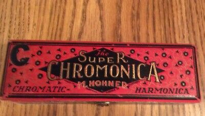 $160 • Buy Vintage  The Super Chromonica  M. Hohner Harmonica - Made In Germany