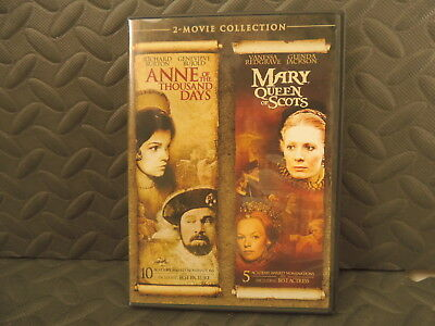$16.99 • Buy Mary Queen Of Scots + Anne Of The Thousand Days 2 Dvd Set