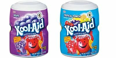 Kool-Aid Grape & Fruit Punch Soft Drink Mixes 538g (One Of Each Tub) • 15.99£