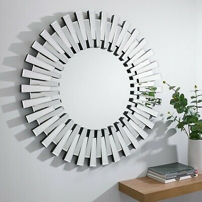 STARBURST Small Large Wall Round Bathroom Hallway Bedroom Mirror 60/80/120 Cm • 139.99£