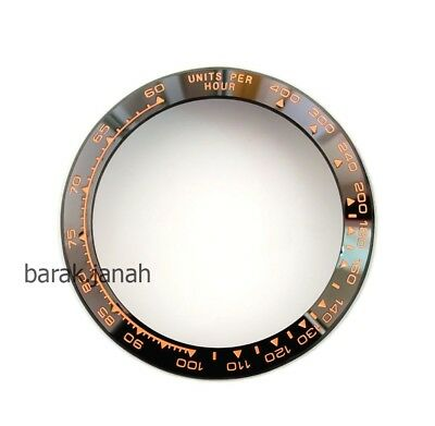 $ CDN130.33 • Buy Black Rose Gold Ceramic Bezel Insert For Rolex Daytona Watches 116500 116520