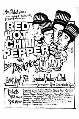 $11.99 • Buy  Red Hot Chili Peppers 1986 London Victory Club Concert Reprint Poster Free Ship